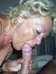 Old ladies swallow cum